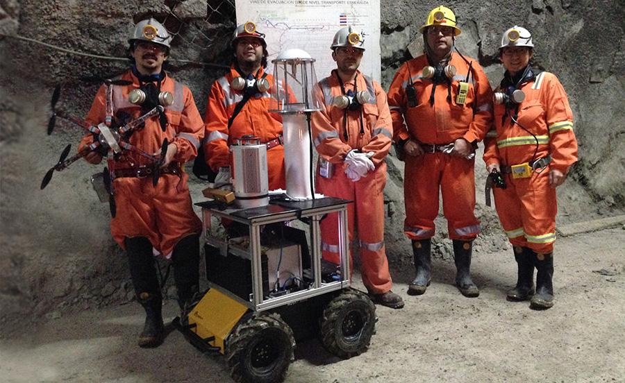 autonomous mine mapping robot
