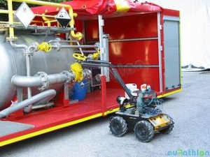 Husky completing the Valve Task. Copyright All rights reserved by EuropeanRobotics