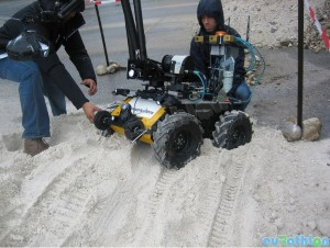 Husky entering the obstacle course Copyright All rights reserved by EuropeanRobotics
