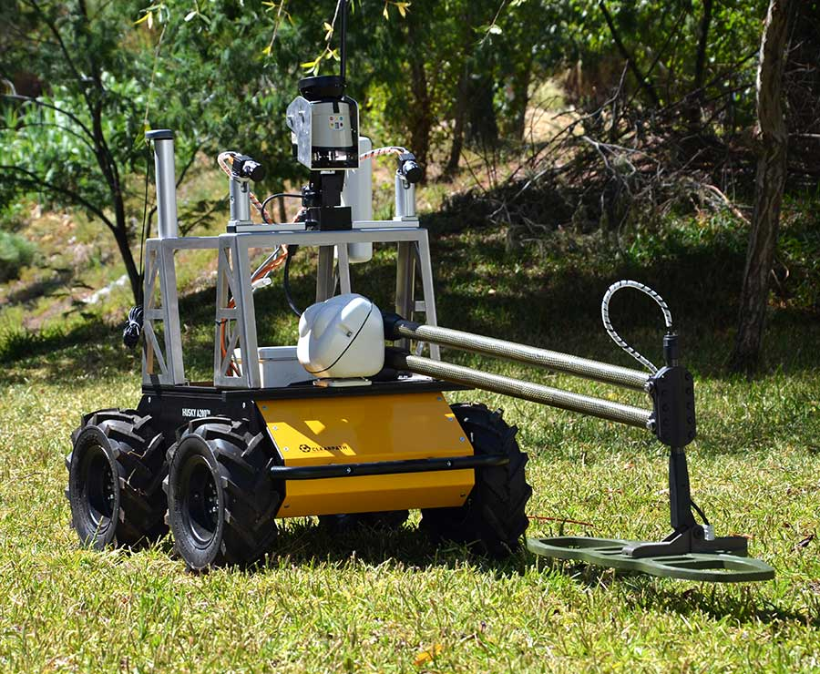 Autonomous demining research with Husky