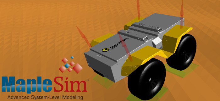 Simulating Clearpath Robots in MapleSim